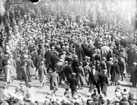 Crowds; Streets; Taken During Unemployed Demonstration