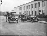 Ford, Henry; Autos. Edsel and Henry Ford with 15 millionth auto  made. 4negs