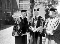 Ford, Henry; Degrees. Robert Sidney Shaw and  Dr. Gordon L. Laning, Receives Degree At Michigan State College .