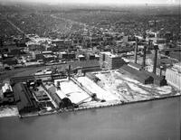 Detroit; Waterfront. Industrial. Foot of Orleans & Riopelle Streets.