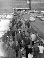 Ford Motor Co. ; Employees; River Rouge; Men Leaving Plant.