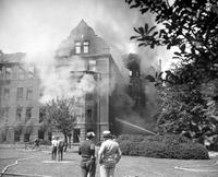 Colleges; St. Mary's Academy; Monroe, MichiganExterior Views of Buildings. Building Exterior after the fire 6-4-29.