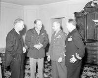 Doolittle, General James H. ; U. S. A. F. -With; Edward J. Jeffries, General Levin H. Campbell & Dixie Kiefer