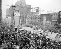 Automobiles; History; Detroit; Jubilee. Parade Floats .