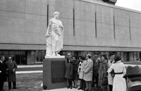 Colleges; Wayne State University;  Buildings; Medical; Scott Hall of Basic Medical Sciences. Unveiling of the Statue of Hippocrates.