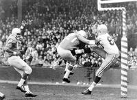 "Football; Detroit Lions; Action 1960; Vs Green Bay Packers. -""Blocked Punt"""