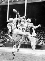 "Football; Detroit Lions; Action; 1970; Vs San Francisco 49ers. -""Squeeze Play"". -This Photo Hangs in Football Hall of Fame in Canton, Ohio"