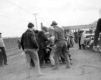 "Riots; Ford Motor Co. ; Labor Union May 1937. ""Battle of the Overpass""."