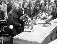 Wars; World; #1; Funerals; Polar Bears. Picture are Mr. & Mrs. Frank Skocelas, parents of private Andrew Skocelas.