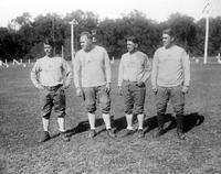 Colleges; Michigan State College; Football Coaches. with John Koss, Harry Kipke, Edward Vandervoort, Miles Casteel.