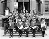 Police Dept. ; band. Bugle and Drum Corps. 6 negs.