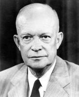 Eisenhower, Dwight D. ; President of United States. -Associated Press Photo 1956.