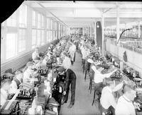 Burroughs Adding Machine Co. Factory workers.