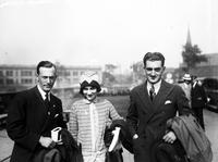 Noad, Count & Countess E. Johnson; Of England; In Detroit. In boat