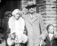 Mott, Charles S. Vice President General Motors. With former wife Mrs. Charles S. DeFurey Mott