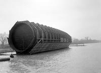 Tunnels; Detroit -Windsor; Construction; Launching of Section