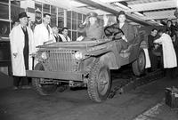 Ford, Edsel; Groups. Charles H. Bonesteel and Edsel Ford in Blitz Buggy of Ford Motor Company.