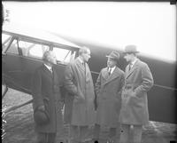 Spain; Royal Family. Infante Don Alfonso. With Prince Alvaro De Orleans Bonibon; Alvin Macauley & Captain Wodson At Packard Airport.