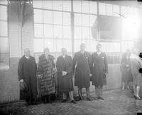 Spain; Royal Family; Infante Don Alfonso. -With Prince Alvaro De Orleans Bonibon, Alvin Macauley & Captain Wodson At Packard Airport