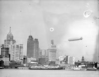 Aero;  Dirigibles; Graf Zeppelin Over Detroit