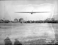 Aeronautics; Gliders; Meets; 1929; At City & Ford Airports. -Captain & Mrs. Frank Hawks. -Wallace Franklin