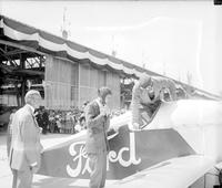 Lindbergh, Colonel Charles; At Ford Airport -With Henry Ford. -With Edsel Ford. -With William B. Stout. -With Mayor John W. Smith, Etc.