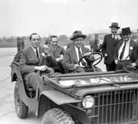 Ford Motor Co. ; Army. W. J. Davidson, Edsel Ford & Sir Clive Balillieu.