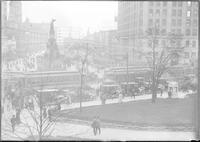 Streets; Campus Martius; Old Scenes. Autos Parked in Middle of the Street.
