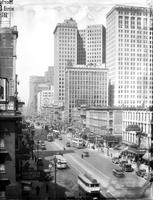 Streets; Woodward Avenue; North From Jefferson. Dates: 1929, 1930. (Note: First image pictured is dated Feb. 1930- see additional images for more from this date as well as those dated 1929)