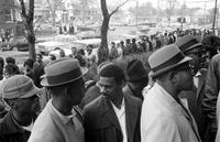 Ford Motor Co. ; Employees. Applicants for jobs. Inner city hard core unemployed invited by Ford to apply for jobs.