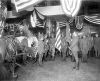 Wars; World; 1; Army; Funerals. Coffins in Armory. - First bodies returned to Detroit. - 339th Infantry (Polar Bears) at Armory