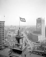 World War; 1; Civilian Activities; Liberty Loan. Flag on City Hall