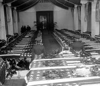 Wars; World; 1; Army; Funerals; Polar Bears. Coffins at White Chapel