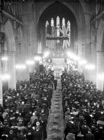 Churches; Episcopal; St. Pauls Cathedral: Interior. -Crowd at Memorial Service for King George