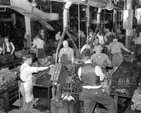 Ford Motor Co. ; Plants; Rouge. Interior. Assembly line.