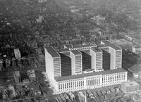 Detroit; Buildings; General Motors; Aerial View. And bldgs. in vicinity. Date is 1926