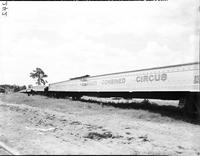 Circus Scenes; Winter Quarters: Sarasota Fla. -Wagons and Trains.