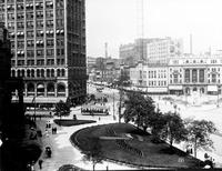 "Streets; Campus Martius; Old Scenes. Note: First negative reads: "" About 1907- 1910"""