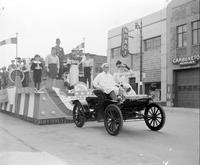 Detroit; History; 250th Birthday; Parade; Floats. -First Mass. -Ford Float. -General Motors. -Italian float. -Kaiser Frazer. -Kelsey Hayes Wheel. -S. S. Kresge. -Oldsmobile
