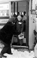Busing; of Public School Students in Detroit. First Day of Busing