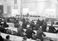 Labor Unions; Auto; UAW; Detroit; Debate at Gen. Motors Bldg. Mar. 1942