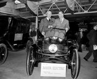 Ford, Benson; Ford Motor Company; Groups. with Chas. Brady in Baker Electric Car