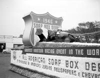 Automobiles; History; Detroit; Jubilee. Parade floats