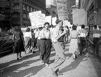 Communists; Detroit; Picketing Federal Building