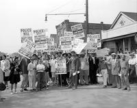 Communists; Detroit. Carl Winter (under arrow) in protest parade