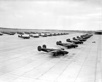 Army; Aero; Aircraft; Bombers; B-24 Liberators. -Willow Run #9. -Checking Over For Test Flights