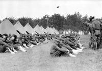 Wars; World; 1; Army; Camp Scenes. -Feet Inspection