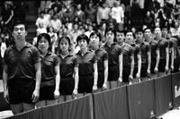Table Tennis; China - United States; In Detroit. -At the University of Michigan; Ann Arbor