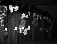 Army. Conscription. Detroit. -Theodore Abratowski first number to be drawn (158)  1940-1941