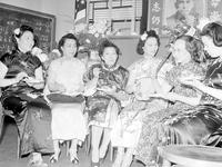 Foreign Colonies; Chinese. Chinese Women's Club. Lucille Lee, Mrs. Charles Wong, Mrs. Frank Lee, G. H. Wang of Chicago, Mrs. W. Z. Chang & Mrs. Helen Zau Liu. 2 negs